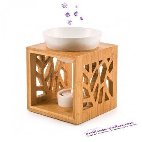 Brûle parfum Cube - Bois Naturel