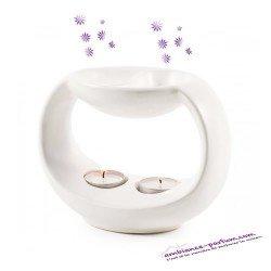 Brûle-Parfum YIN Blanc - Double diffusion