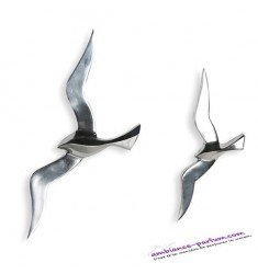 Objet Mural Flying Bird Aluminium