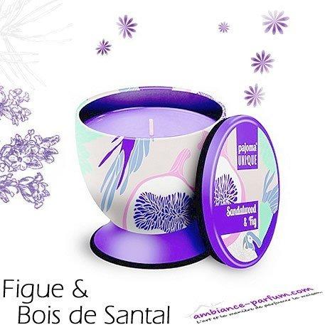 Bougie parfumée Luxe - Bois de Santal & Figue