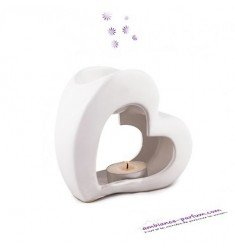 White Heart Ceramic Burner