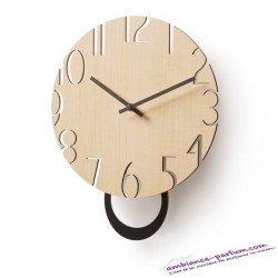 Horloge mural PETTERS - bois naturel