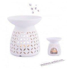 Brûle-parfum Porcelaine Fleurs