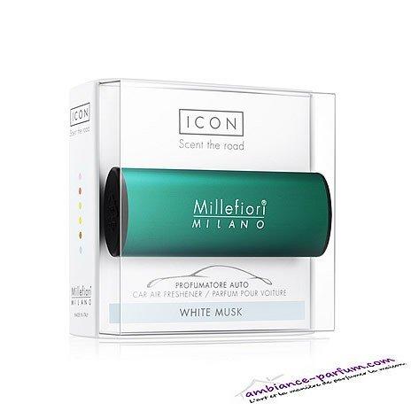 Diffuseur Voiture - Millefiori Icon White Musk