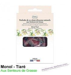 Cônes d'encens naturels - Monoï Tiaré