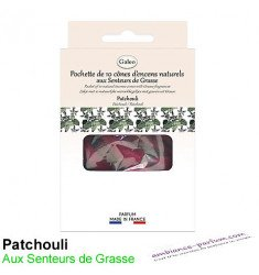 Cônes d'encens naturels - Patchouli