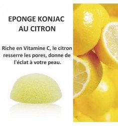 Eponges Konjac au Citron