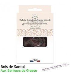 Cônes d'encens naturels - Bois de Santal