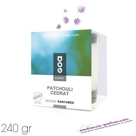 Bougie Crème Esprit GOA - Patchouli Cédrat