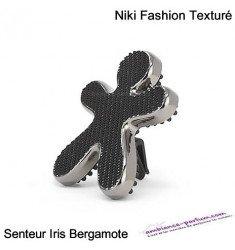 Diffuseur Niki Laminé Chrome / Noir - Iris & Bergamote