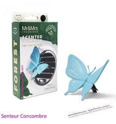 Diffuseur Voiture Papillon Bleu - Concombre
