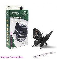 Diffuseur Voiture Papillon Noir - Concombre