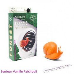 Diffuseur Voiture Escargot Orange - Vanille Patchouli