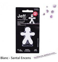 Diffuseur Voiture Jeff Blanc Mat - Santal Encens