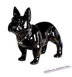 Sculpture Bouledogue Céramique Noire