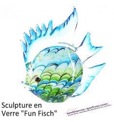 Sculpture Design Fun Fisch en Verre