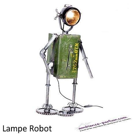 "Lampe ""Robot"" en métal industriel"