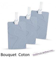 Lot de 3 Cartes Parfumées - Bouquet de Coton